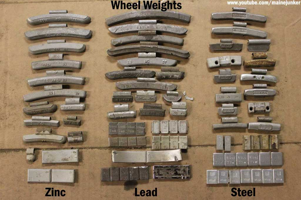 Lead Wheel Weights : Guide to hand sorting wheel weights